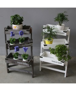 Home/Garden Deco Wooden Ladder Plant Stand Shelf (Ready Stock)