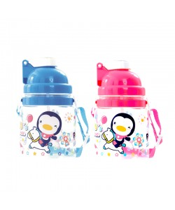 PUKU Bounce Straw Bottle Canteen 550CC Blue/Pink