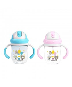 PUKU PARTY ANIMALS TRITAN LEARNER CUP 6M 220ML