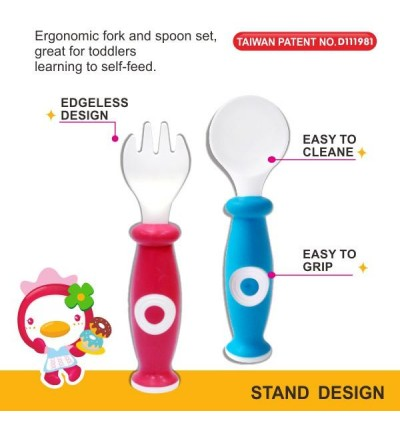 PUKU Baby Spoon & Fork Set