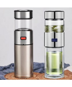 Double Layer Portable Tea Separation Tea Creative Heat-Resistant Filter Bottle (Pre-Order)