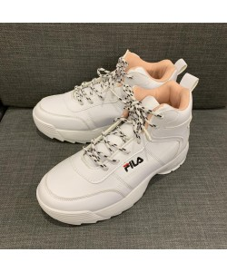 Women's Casual Sneaker Flat Boots Sport Shoe in White FX206W READY STOCK