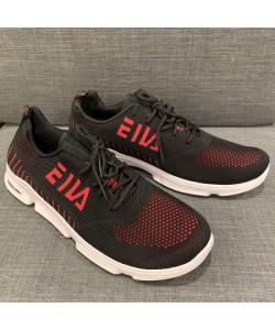 Men's Mesh Sneaker Casual Sport Shoe in Black + Red CT19-2R READY STOCK