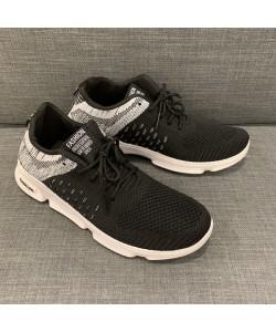 Men's Mesh Sneaker Casual Sport Shoe in Black + Grey CT19-1B READY STOCK